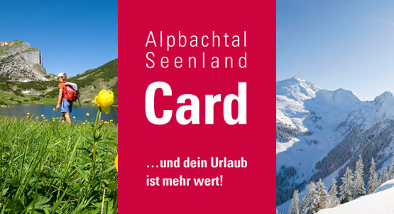 Great advantages with the Alpbachtal Seenland Card